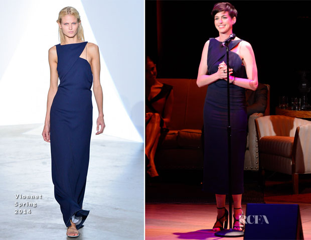 Anne Hathaway In Vionnet - Great American Songbook Event Honoring Bryan Lourd