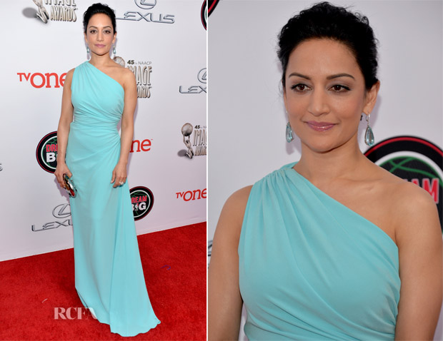 Archie Panjabi In Ports 1961 - NAACP Image Awards 2014