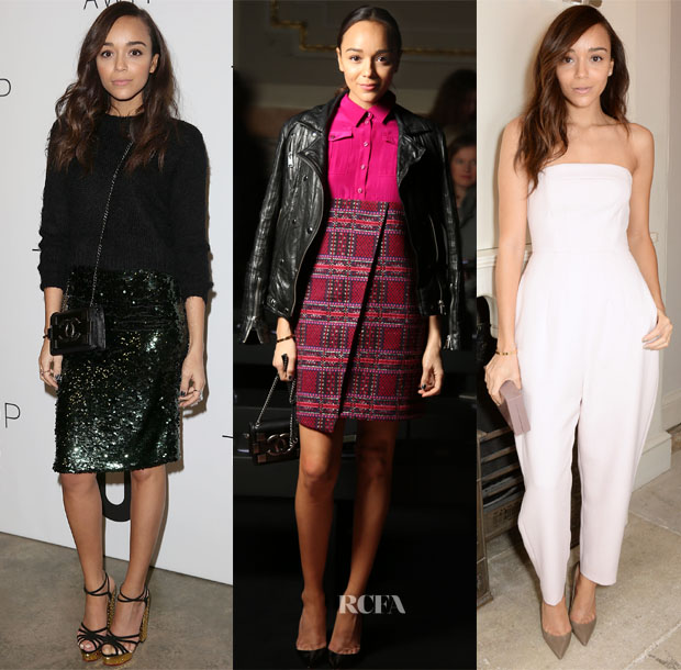 Ashley Madekwe Front Row @ London Fashion Week