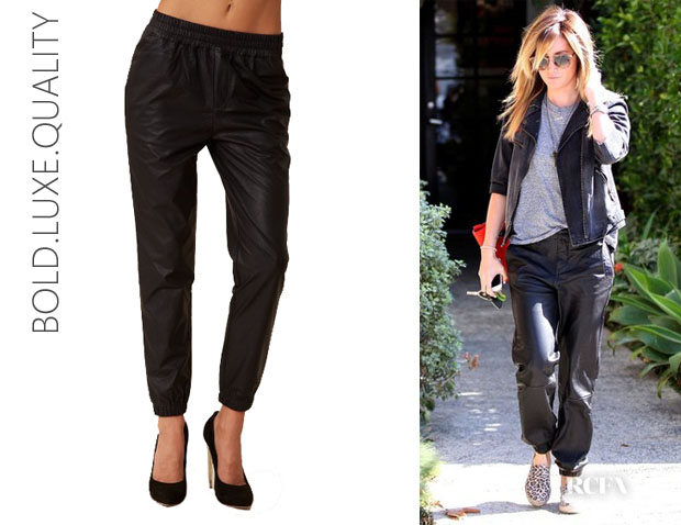 Ashley Tisdale's BLQ Basiq Faux Leather Slouch Pants