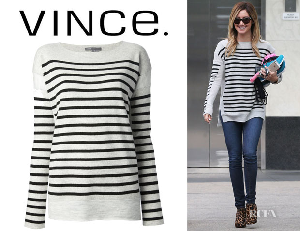 Ashley Tisdale's Vince Breton Striped Sweater