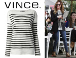 Ashley Tisdale's Vince Striped Sweater