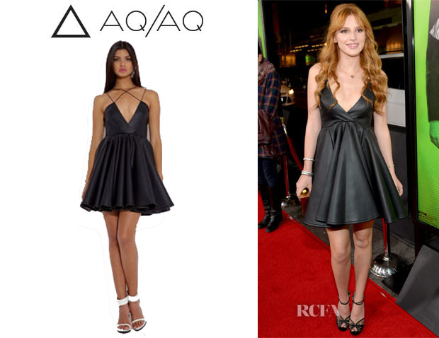 Bella Thorne's AQAQ 'Sane' Deep V Mini Dress