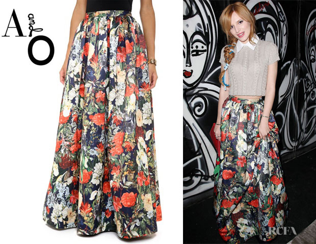 Bella Thorne's Alice + Olivia Ball Gown Maxi Skirt