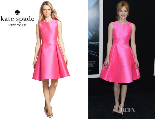 Bella Thorne's Kate Spade New York 'Roset' Woven Fit-and-Flare Dress