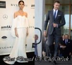 Best Dressed Of The Week - Lily Aldridge In Rosie Assoulin & David Beckham In Burberry Tailoring