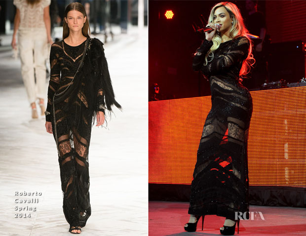 Beyonce Knowles In Roberto Cavalli - DirecTV Super Saturday Night