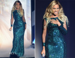 Beyonce Knowles In Vrettos Vrettakos Couture - Brit Awards 2014