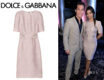 Camila Alves' Dolce & Gabbana Belted Jacquard Dress