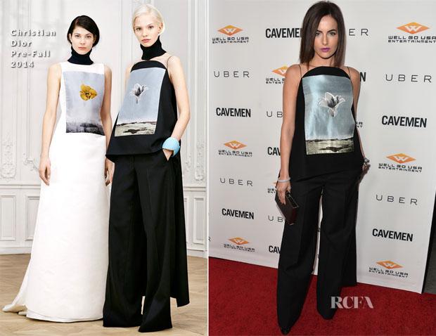 Camilla Belle In Christian Dior - 'Cavemen' LA Premiere