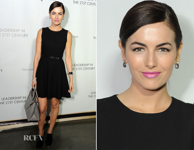 Camilla Belle In Shoshanna - Q&A With His Holiness the 14th Dalai Lama