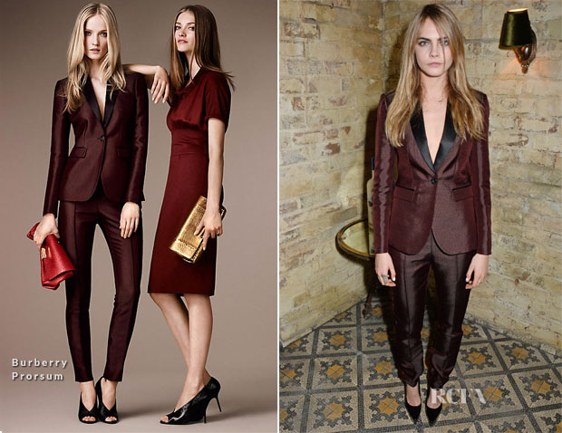 Cara Delevingne In Burberry Prorsum - Harvey Weinstein's Pre-BAFTA Dinner