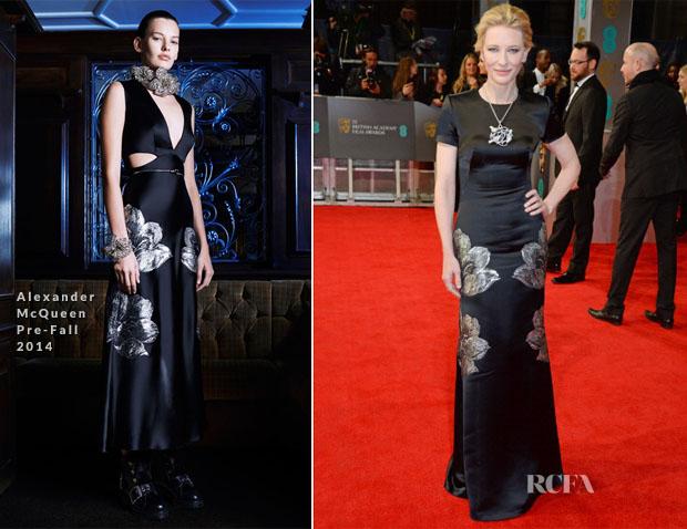 Cate Blanchett In Alexander McQueen - BAFTAs 2014