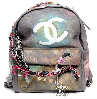 Chanel 'Bricolage' canvas backpack