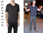 Chris Hemsworth's All Saints 'Fantem' V-Neck T-Shirt