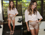 Chrissy Teigen In N/TICE & Elisabetta Franchi - Sports Illustrated Swimsuit's 50th Anniversary Poolside Celebration
