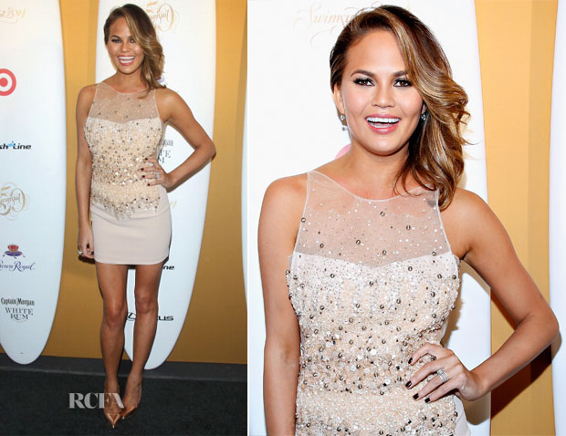 Chrissy Teigen In Philip Armstrong - Sports Illustrated Swimsuit Celebrates 50 Years Of Swim In NYC