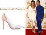 Chrissy Teigen's Gianvito Rossi Leather And Plexy Pumps