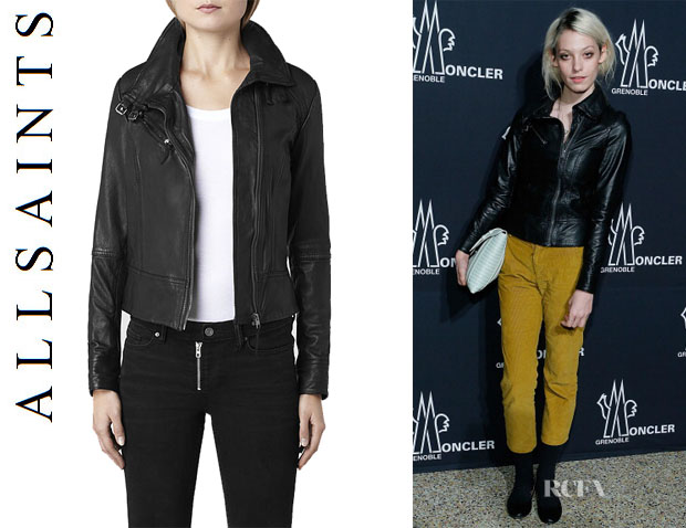Cory Kennedy's All Saints 'Belvedere' Leather Jacket