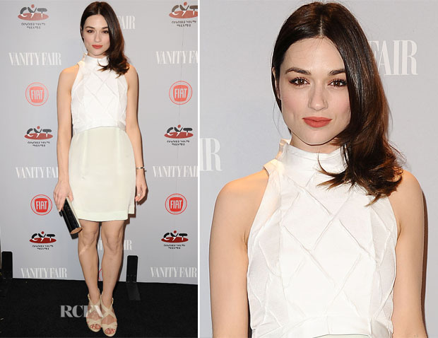Crystal Reed In Paper London - Vanity Fair and FIAT Celebration Of 'Young Hollywood'