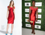 Danai Gurira In Reem Acra - 7th Annual ESSENCE Black Women In Hollywood Luncheon