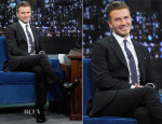 David Beckham In Louis Vuitton - Late Night With Jimmy Fallon