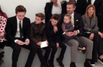 David Beckham In Ralph Lauren - Front Row @ Victoria Beckham Fall 2014