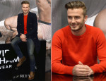 David Beckham In Saint Laurent & Alexander McQueen - H&M Super Bowl Event