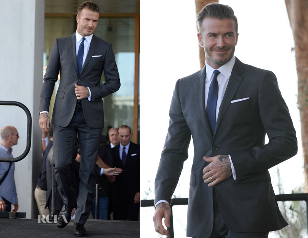 David Beckham in Burberry Tailoring - Major League Soccer