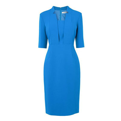 Detroit Fitted Dress With Notch Collar