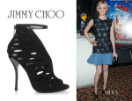 Elizabeth Banks' Jimmy Choo 'Tamber' Suede Cutout Sandals