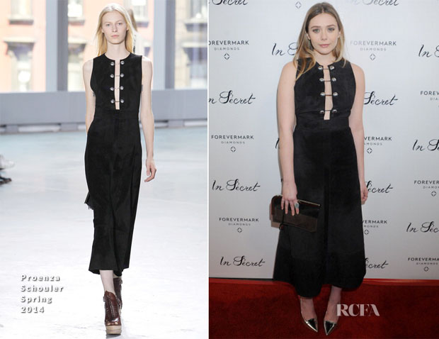 Elizabeth Olsen In Proenza Schouler - 'In Secret' LA Premiere