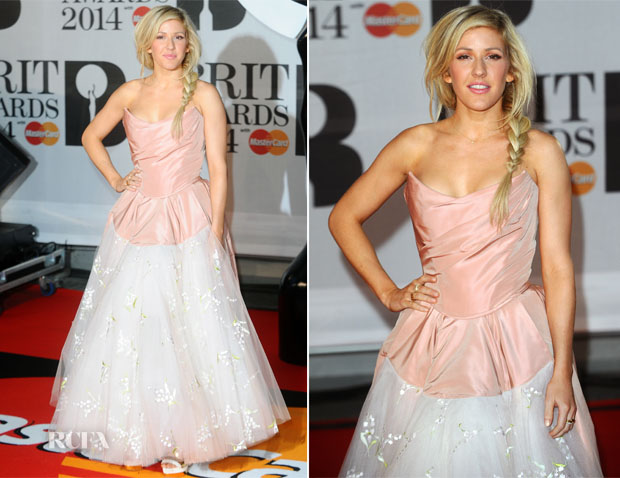 Ellie Goulding In Vivienne Westwood - Brit Awards 2014
