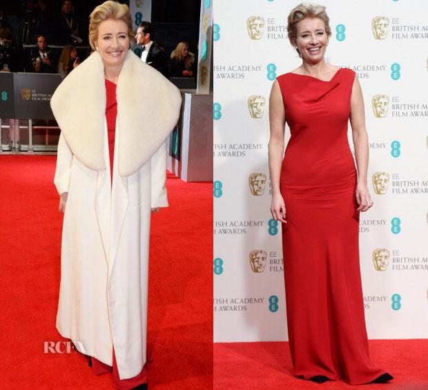 e320e13d8c Emma Thompson In Maria Grachvogel - 2014 BAFTAs - Red Carpet Fashion ...