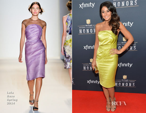 Emmanuelle Chriqui In Lela Rose - 3rd Annual NFL Honors