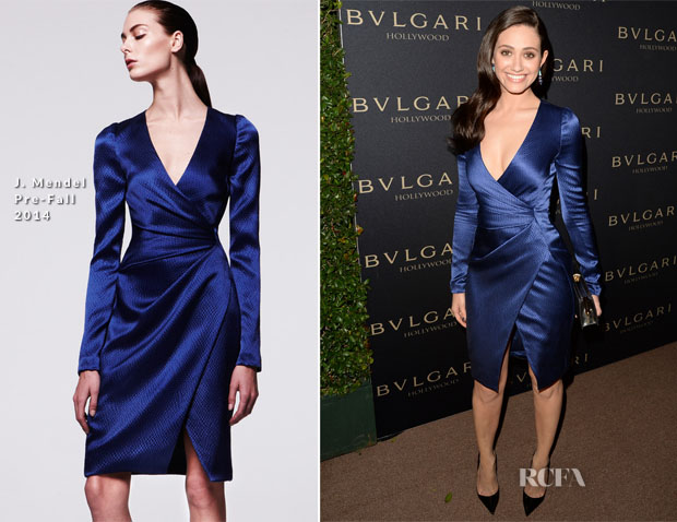 Emmy Rossum In J Mendel - BVLGARI Presents 'Decades Of Glamour'