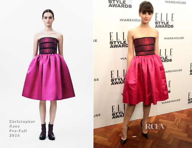 Felicity Jones In Christopher Kane - Elle Style Awards 2014