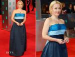 Gillian Anderson In Vintage Balmain Couture - 2014 BAFTAs