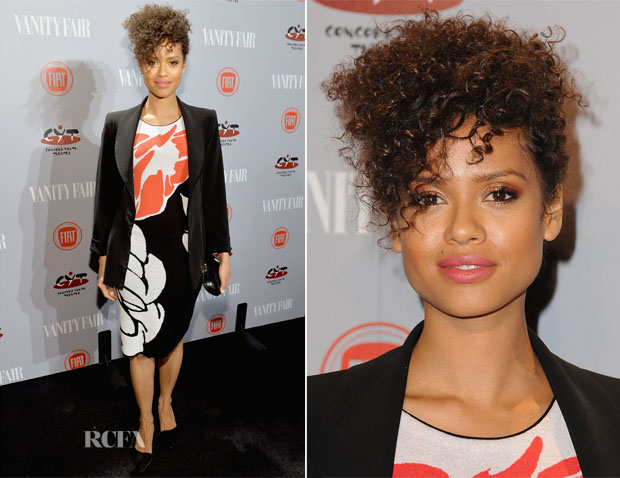 Gugu Mbatha-Raw In Escada - Vanity Fair and FIAT