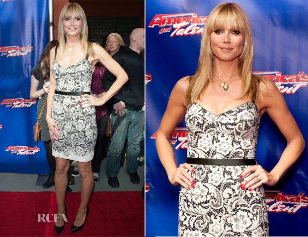 Heidi Klum In Dolce & Gabbana - 'America's Got Talent' Season 9 Photo Call