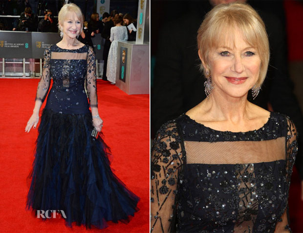 Helen Mirren In Jacques Azagury - 2014 BAFTAs