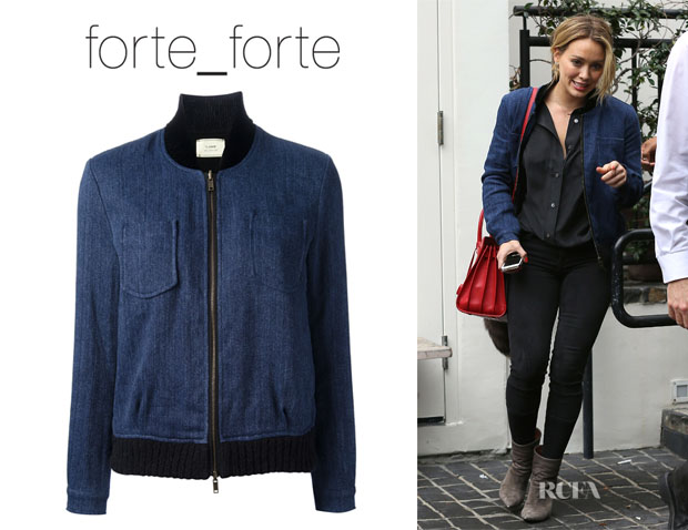 Hilary Duff's Forte Forte Denim Bomber Jacket