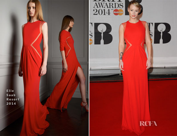 Iggy Azalea In Elie Saab - Brit Awards 2014