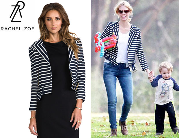 January Jones' Rachel Zoe 'Brando' Jacket