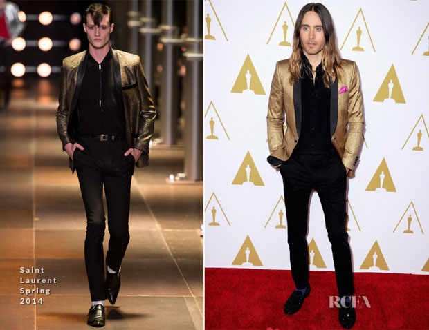 Jared Leto In Saint Laurent - 86th Academy Awards Nominees Luncheon