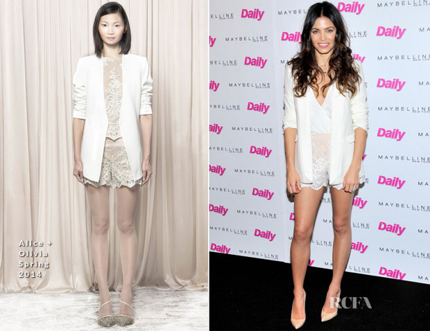 Jenna Dewan-Tatum In Alice + Olivia - Maybelline New York and The Daily Front Row Fashion & Hollywood Luncheon
