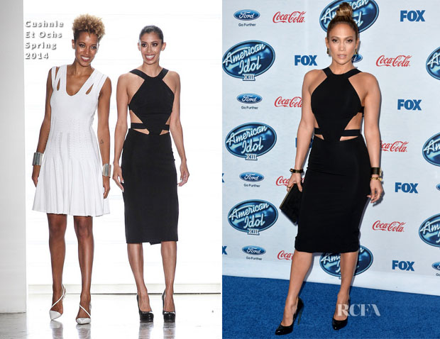 Jennifer Lopez In Cushnie et Ochs - 'American Idol XIII' Finalists Party