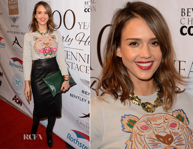 Jessica Alba In Kenzo - EXPERIENCE East Meets West Event