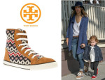 Jessica Alba's Tory Burch 'Noah' Hi-Top Sneakers
