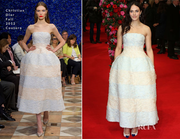Jessica Brown Findlay In Christian Dior Couture - 'A New York Winter's Tale' London Premiere